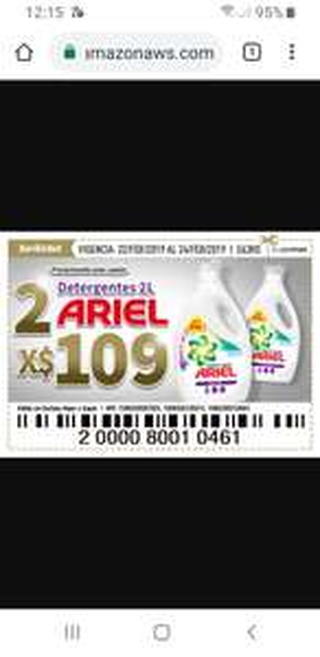 Soriana Híper: Soriticket 4 litros de jabón líquido Ariel x $109.00
