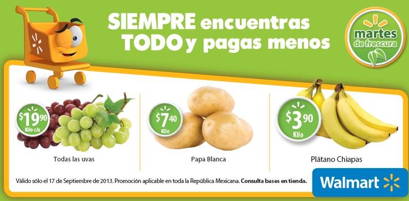Martes de frescura Walmart septiembre 16: plátano $3.90 el kilo y más