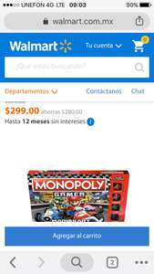 Walmart monopoli Mario kart
