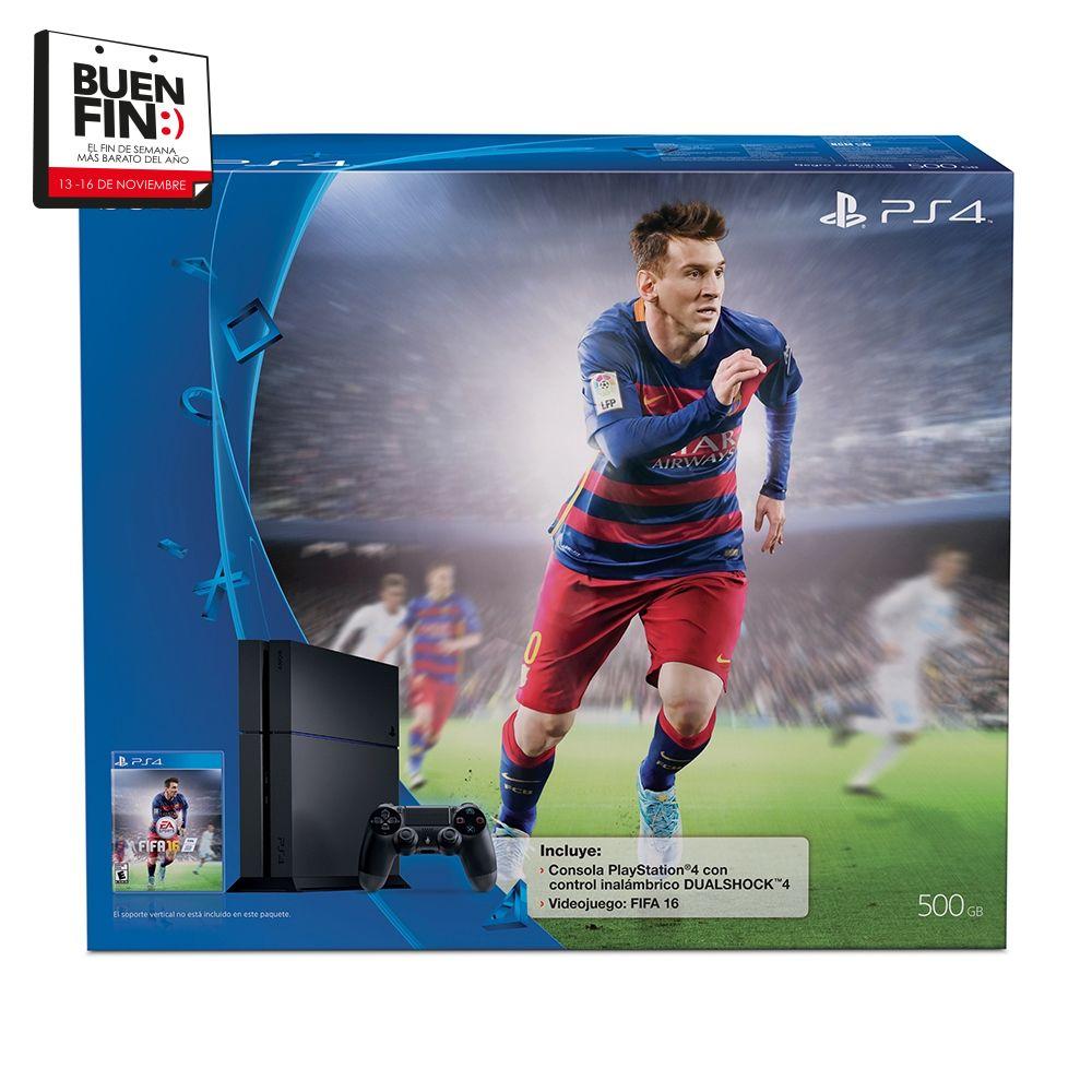 El Buen Fin en Walmart: PS4 con FIFA 16 $5999 ($4,999 con Banamex)