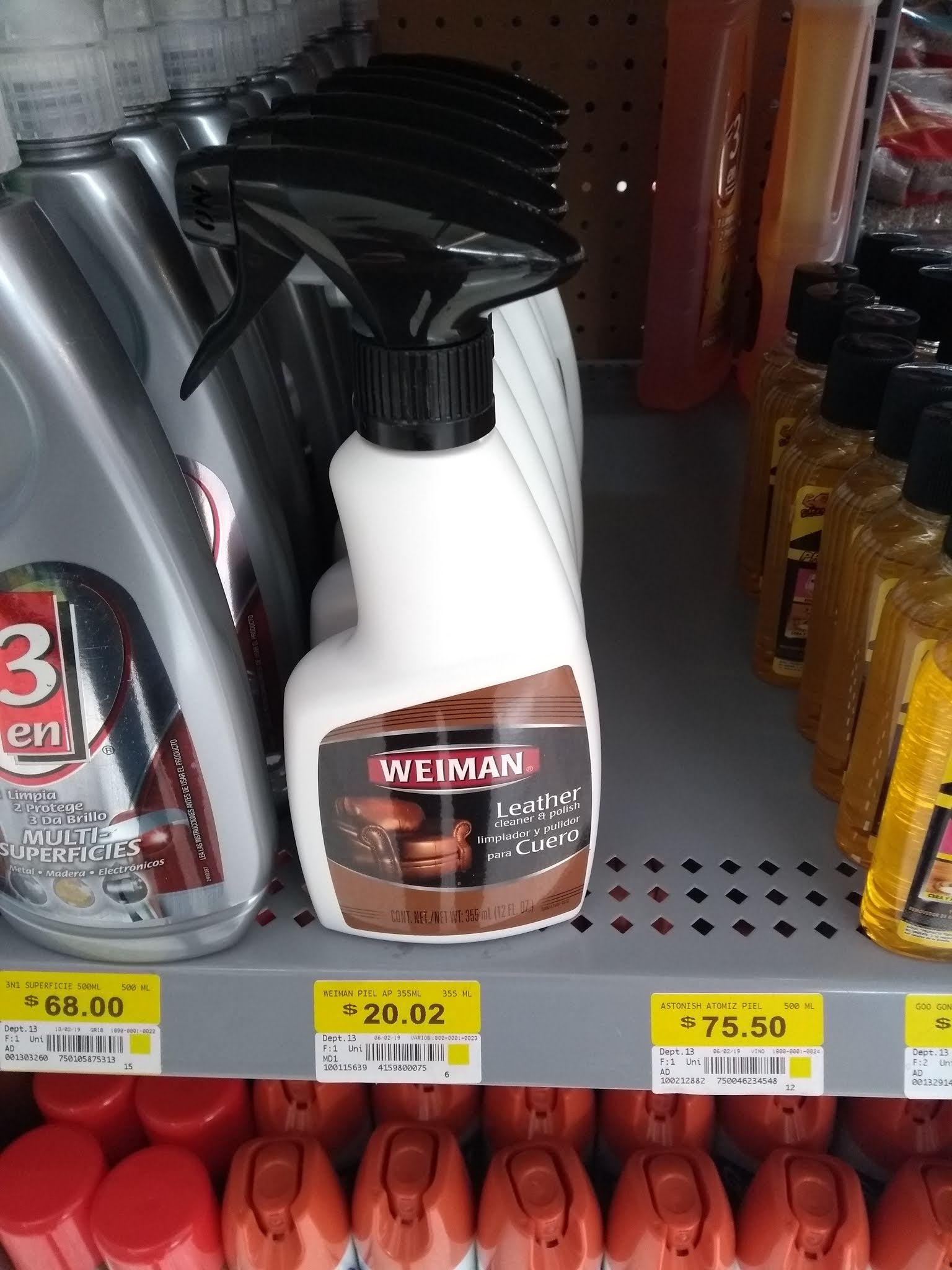 Walmart: Weiman Limpiador y pulidor para salas de piel