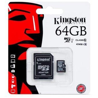 Linio: Memoria MicroSD Kingston 64 GB (aplicando el cupon de nuevo usuario)