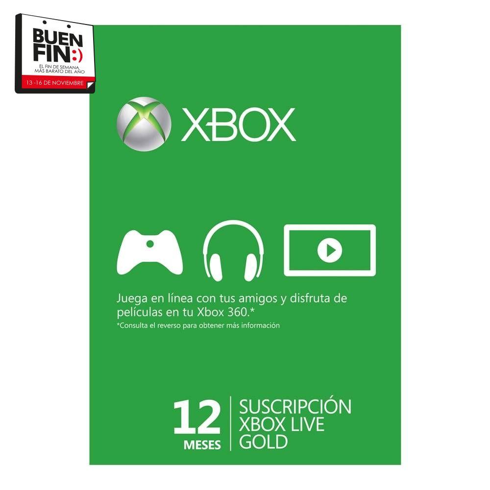 El Buen Fin en Walmart: Xbox live Gold 12 meses a $499