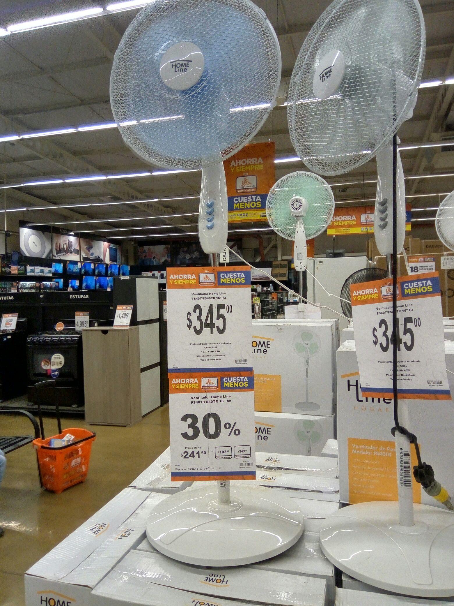 Chedraui tienda física: Ventilador pedestal