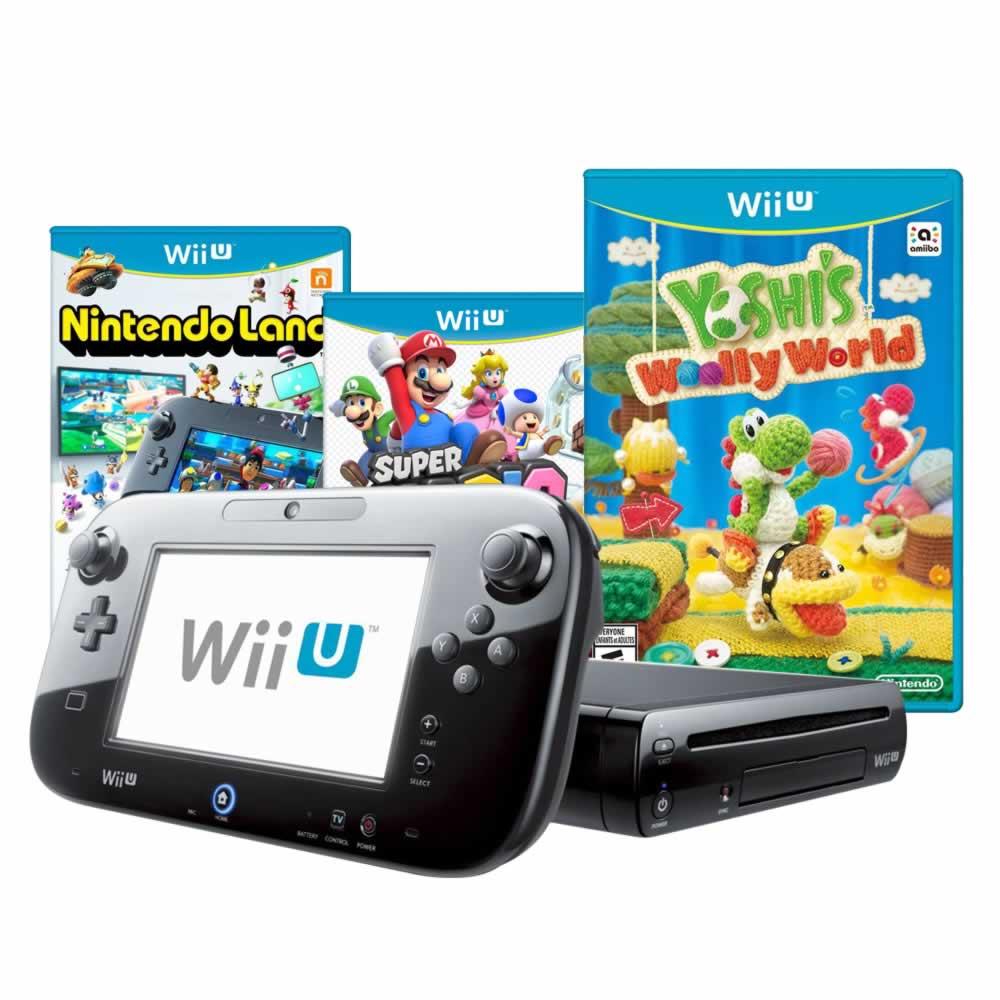 El Buen Fin en Walmart: Wii U con Nintendo land, MArio3d World y Yoshis Wooly $5,825 con Banamex