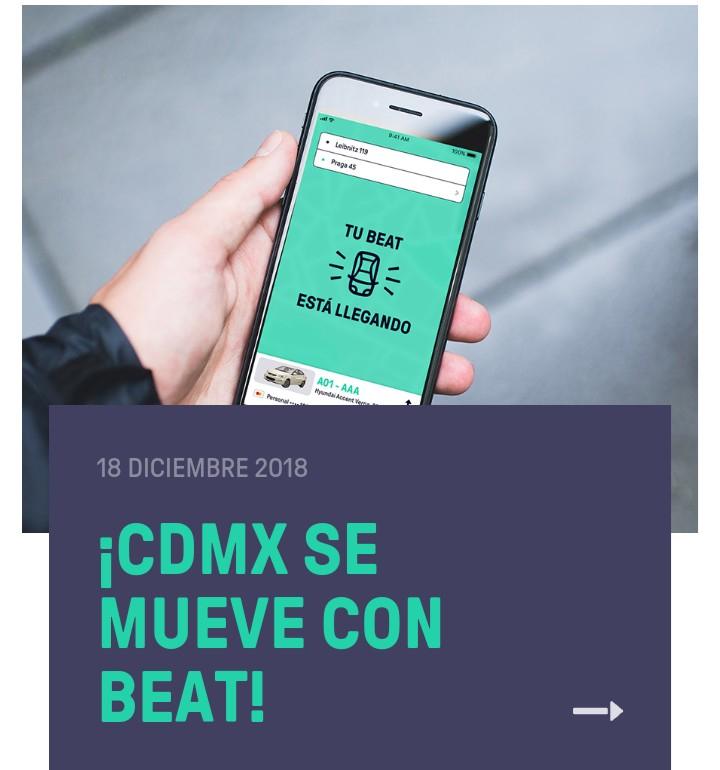 Beat: Regala $500 en 10 viajes de $50 pesos