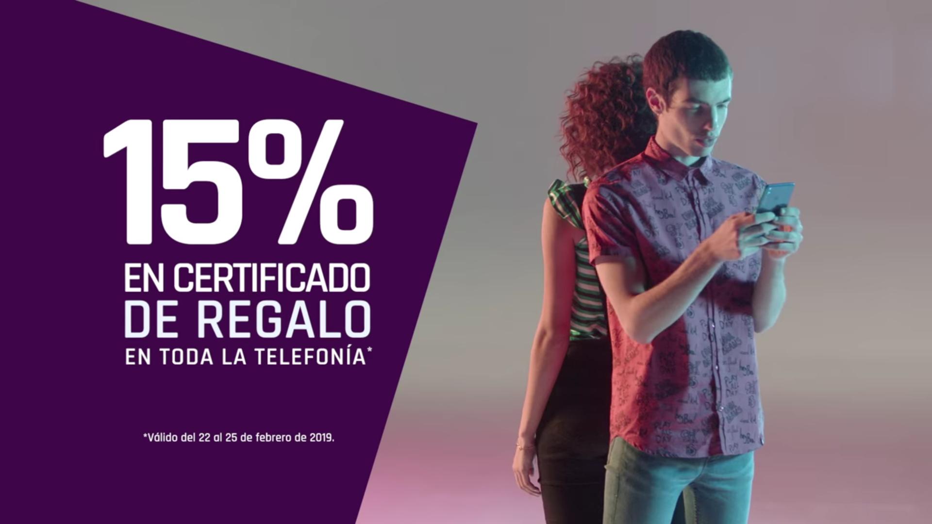 Suburbia: 15% en certificado de regalo en toda la telefonía