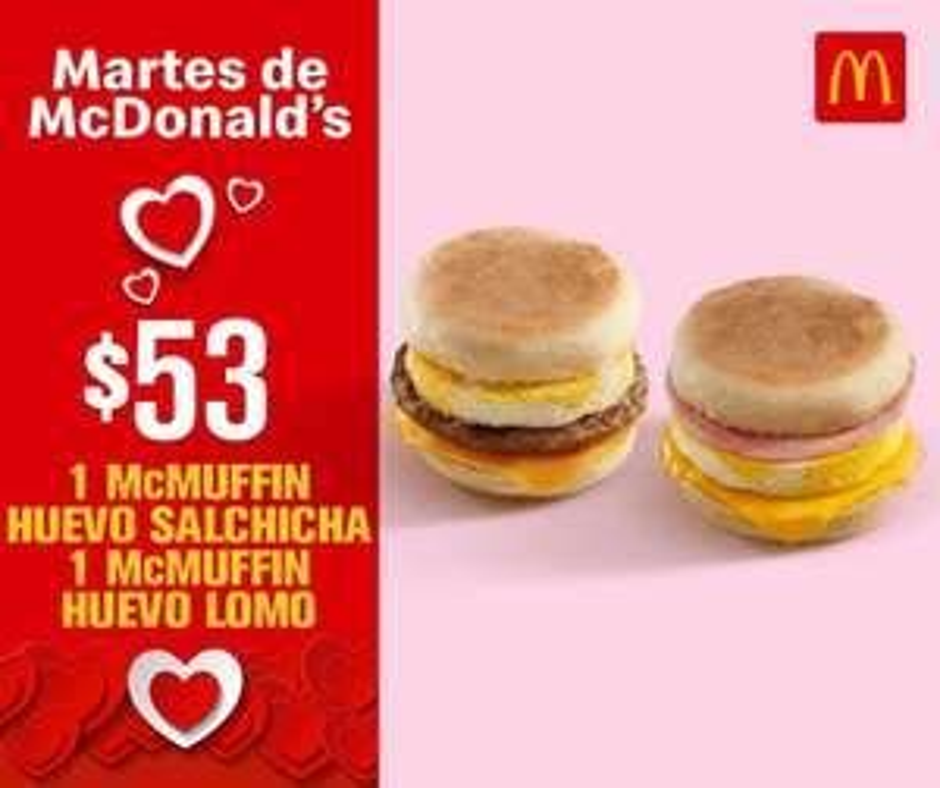 McDonald's: Martes de McDonald's 26 Febrero