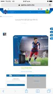 Ps4 + fifa 16 sams club online