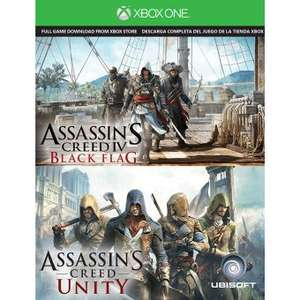 Linio: Assasin´s Creed Unity + Assasin´s Creed Black Flag XBOX ONE
