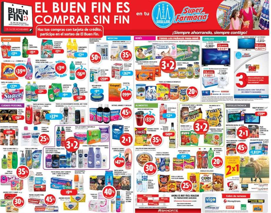 Promociones del Buen Fin 2015 en Farmacias Guadalajara