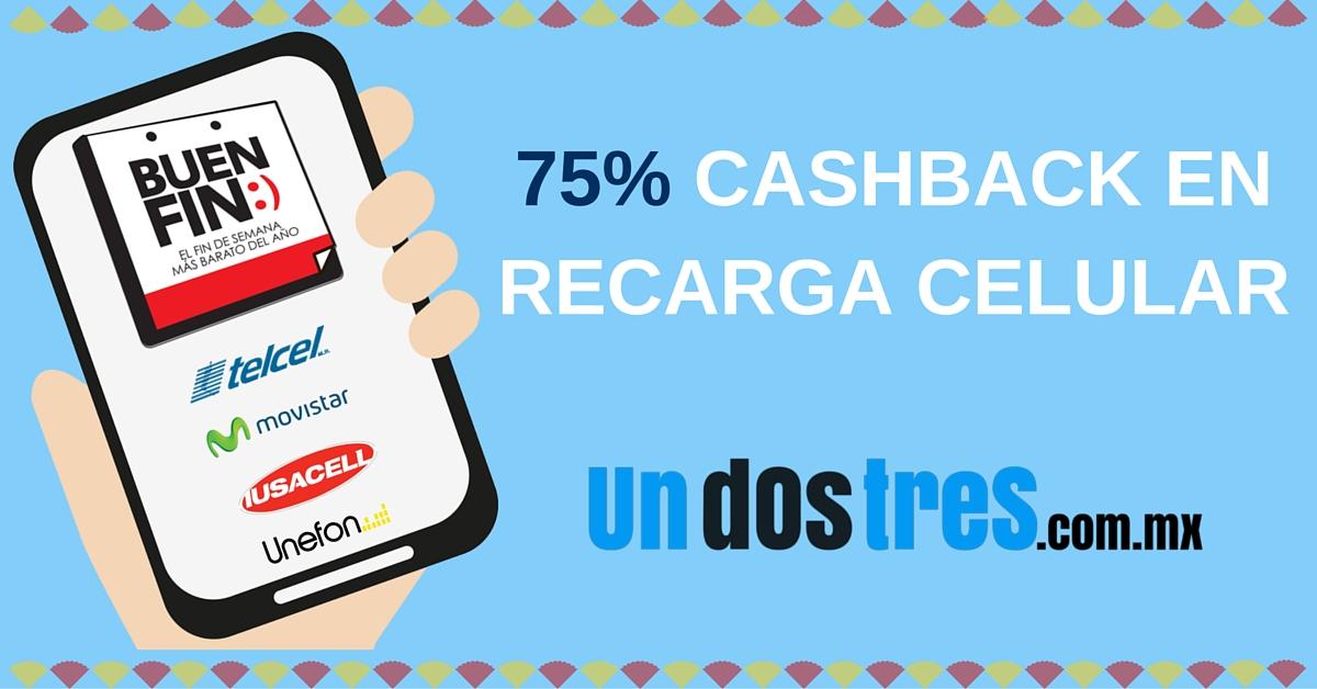 undostres: 50% de cashback en recargas (Máximo $50 y usuarios nuevos)
