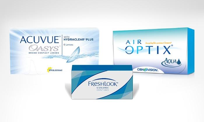 Groupon: Gift card para lentes de contacto en lentes plus
