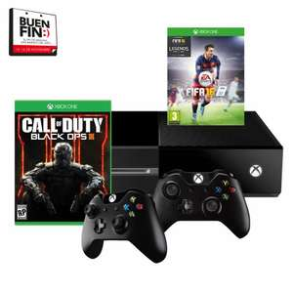 Walmart: Consola Xbox One 1TB FIFA 16 mas Call of Duty Black Ops III mas Control Adicional + 12 EA Access