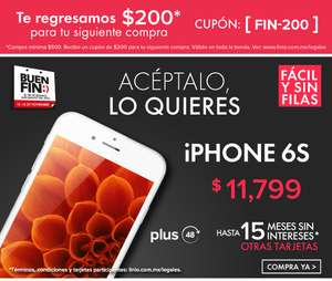 Linio: IPhone 6s $11799, linio plus
