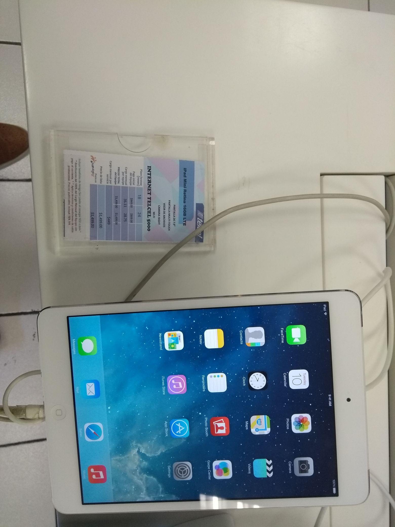 Telcel Galerías Monterrey: iPad mini retina 16 GB LTE