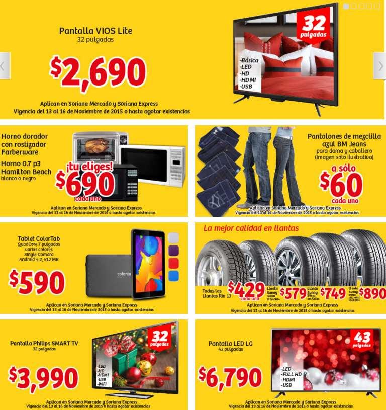 Promociones del Buen Fin 2015 en Mercado Soriana