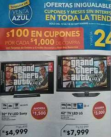 Best Buy: Xbox 360 4GB con FIFA 13 $2,995, LG LED Smart TV $7,999 y más