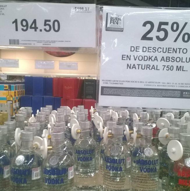 City Club:  tequila azul centenario y absolut natural 25% +20%