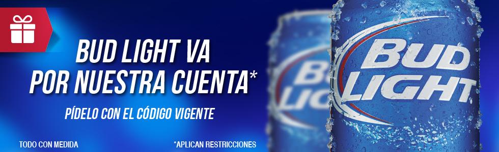Modelo Now: six Bud Light y lentes en la compra de un 18 pack de cualquier marca (Monterrey)