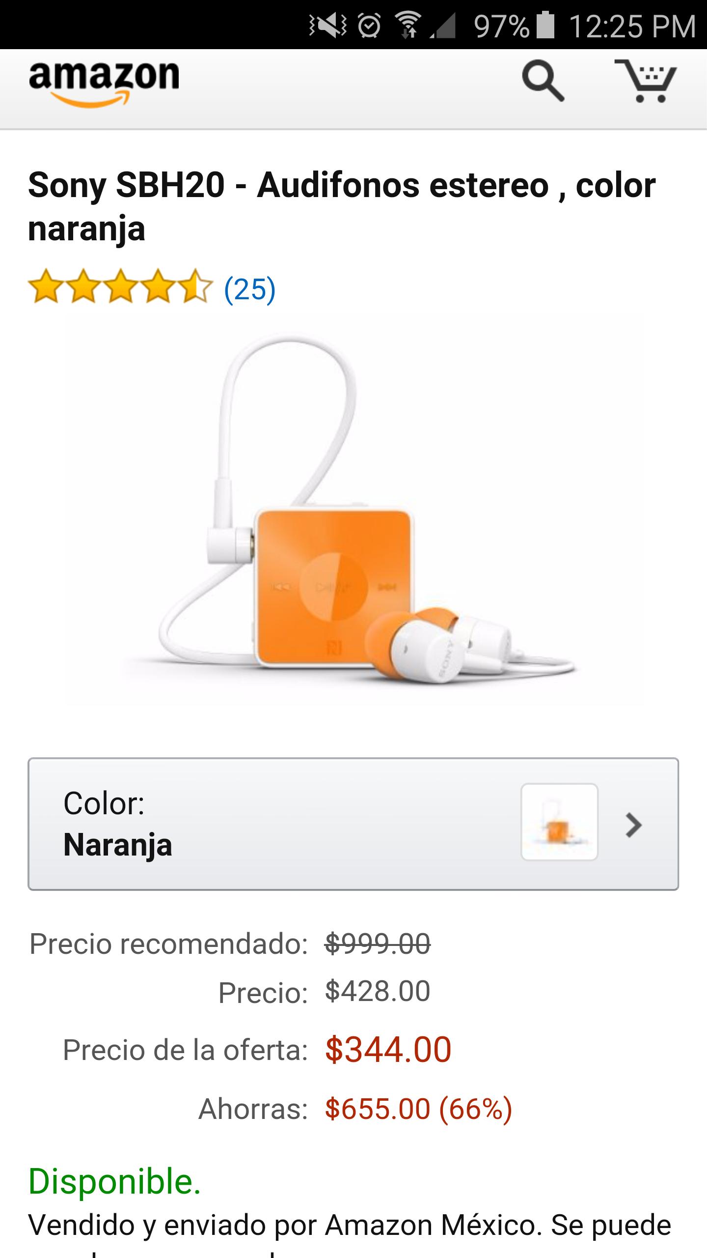 Amazon oferta relámpago El Buen Fin: manos libres bluetooth Sony