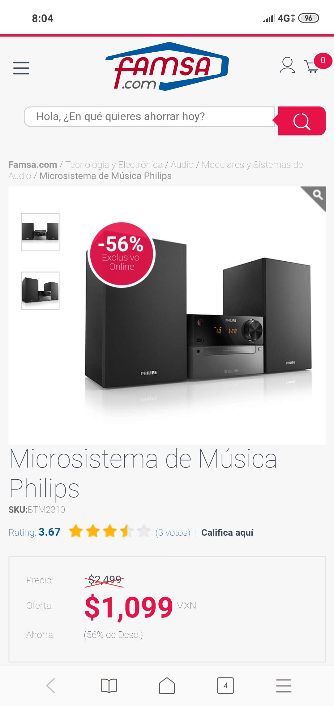 Micro sistema Phillips FAMSA