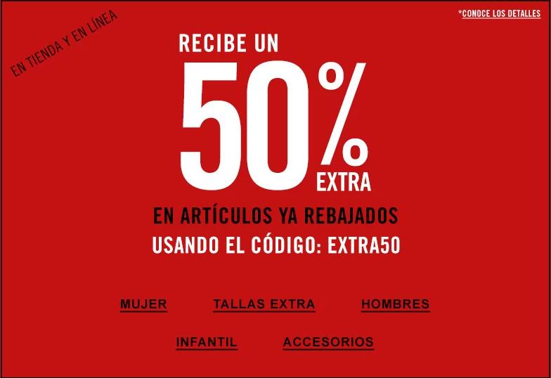 50% de descuento en lo ya rebajado en forever21 en línea y tienda además de 10% adicional en línea al usar el código de descuento en el registro