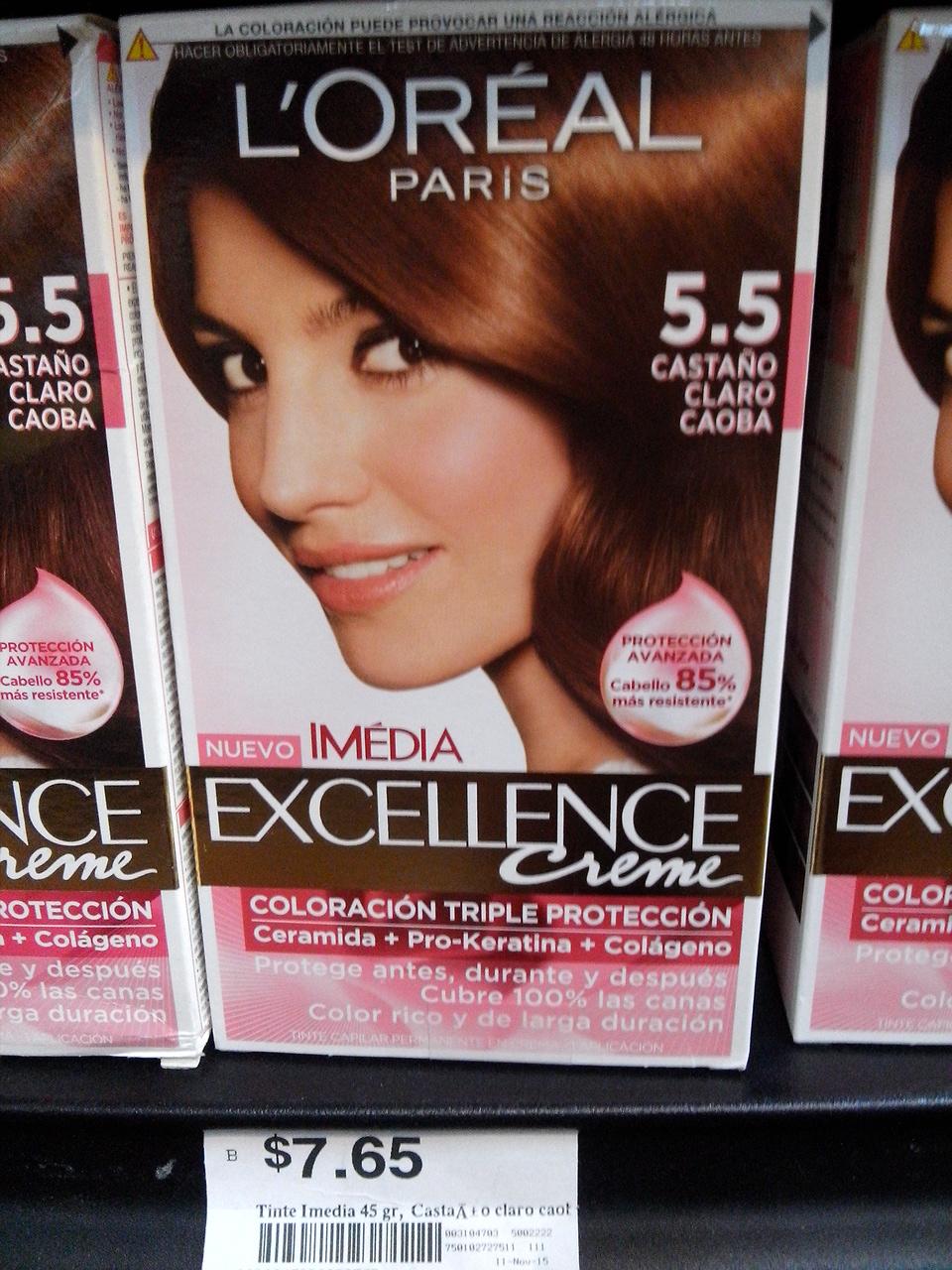 Chedraui (Guadalajara): tinte Imédia Excellence $7.65