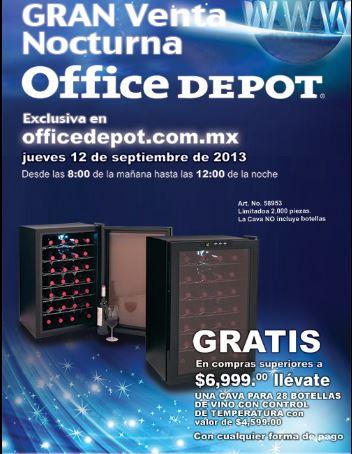 Venta Nocturna Office Depot online septiembre 12 (actualizado)
