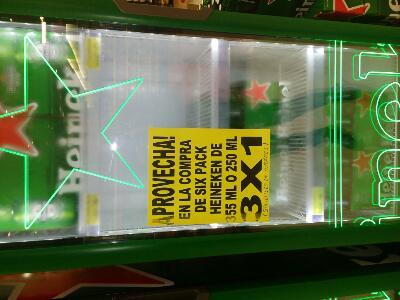 Soriana (Hermosillo): 3x1 six de cerveza Heineken
