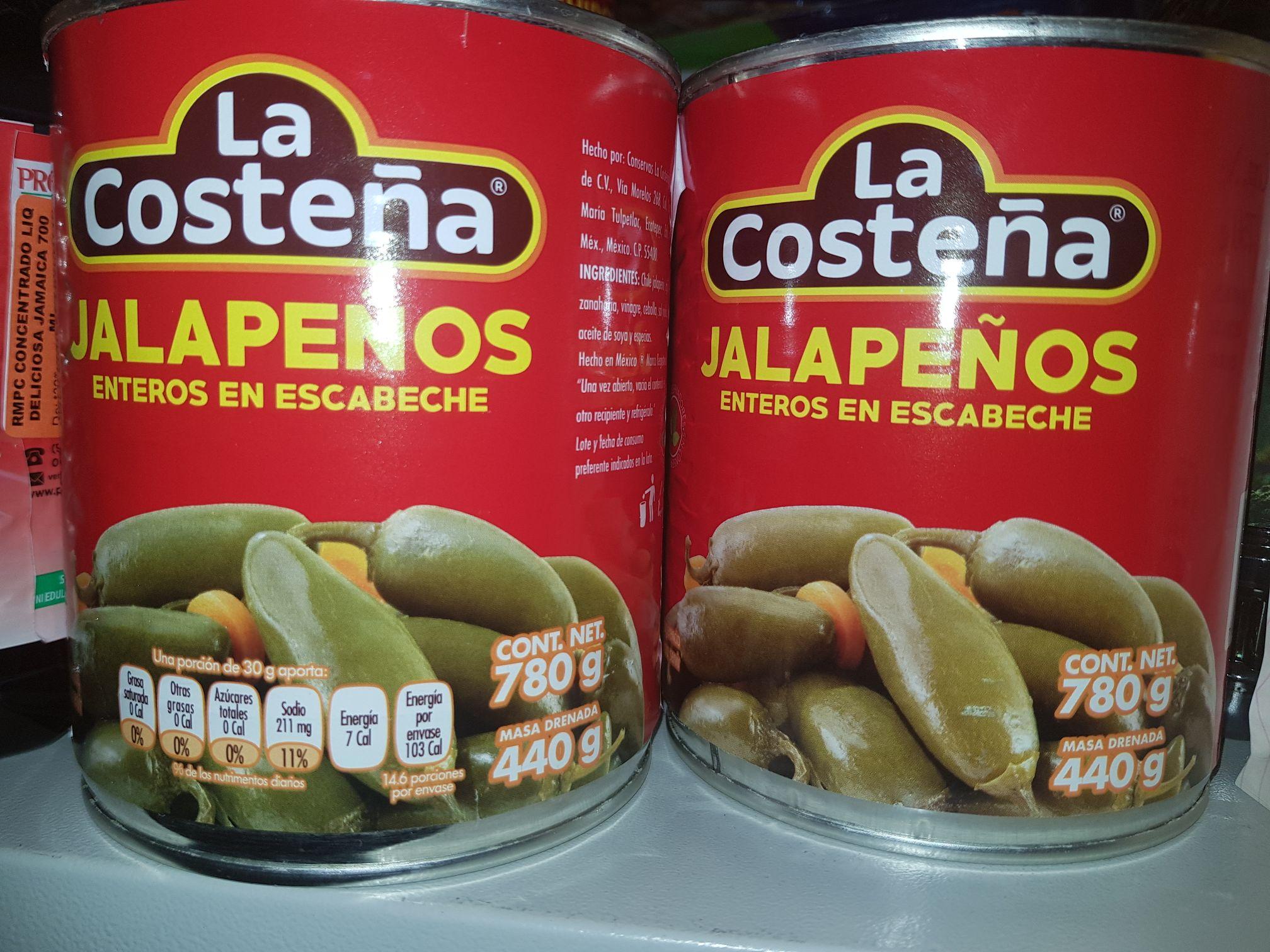 Soriana Hiper: Chiles Jalapenos en escabeche La Costeña de 780 grs.