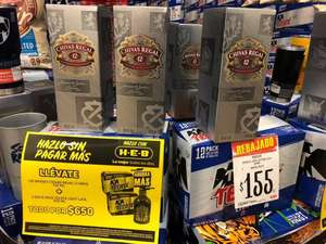 HEB: Chivas Regal + 2 12 pack de tkt en $650