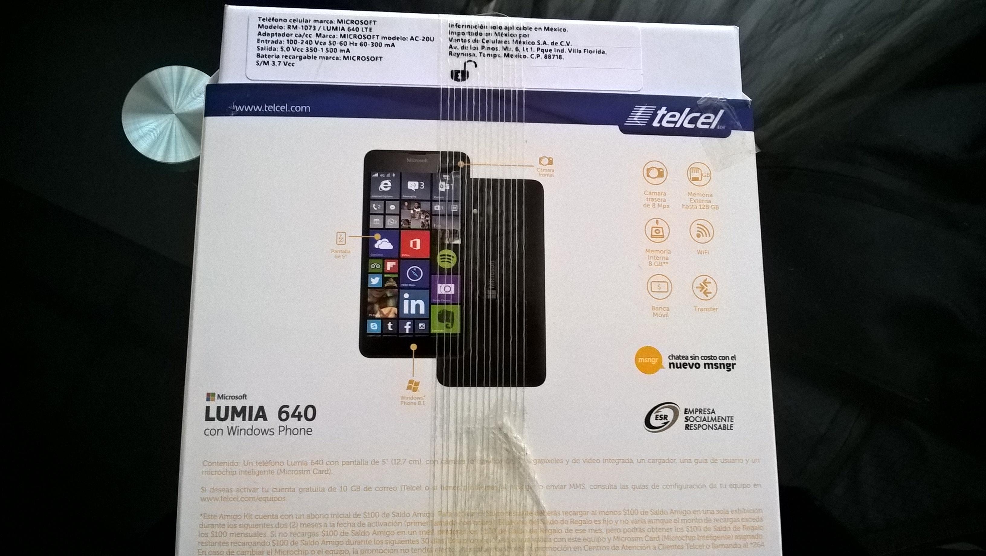 Walmart: Microsoft Lumia 640 LTE telcel liberado