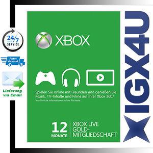 eBay: Xbox Live Gold 12 meses