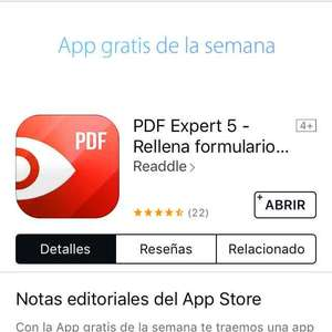 iTunes: gratis app Readdle PDF Expert 5 - Rellena formularios, anota PDFs, firma documentos por Readdle