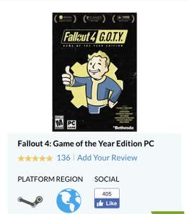 CdKeys: Fallout 4 Game of the Year (PC Steam)