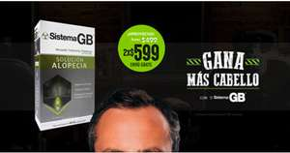 Sistema GB: Tratamiento para Caída del Cabello 2 x $599