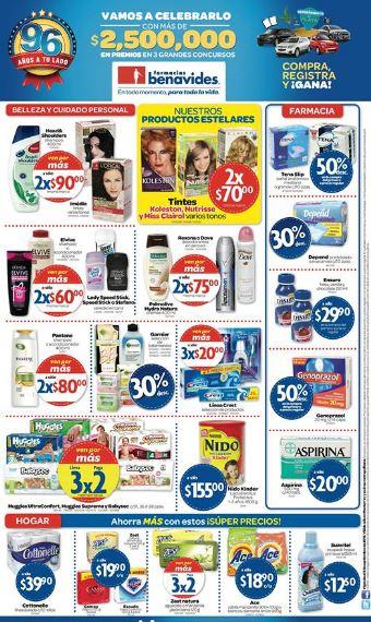 Farmacias Benavides: 3x2 en pañales Huggies, jabones Zest y más