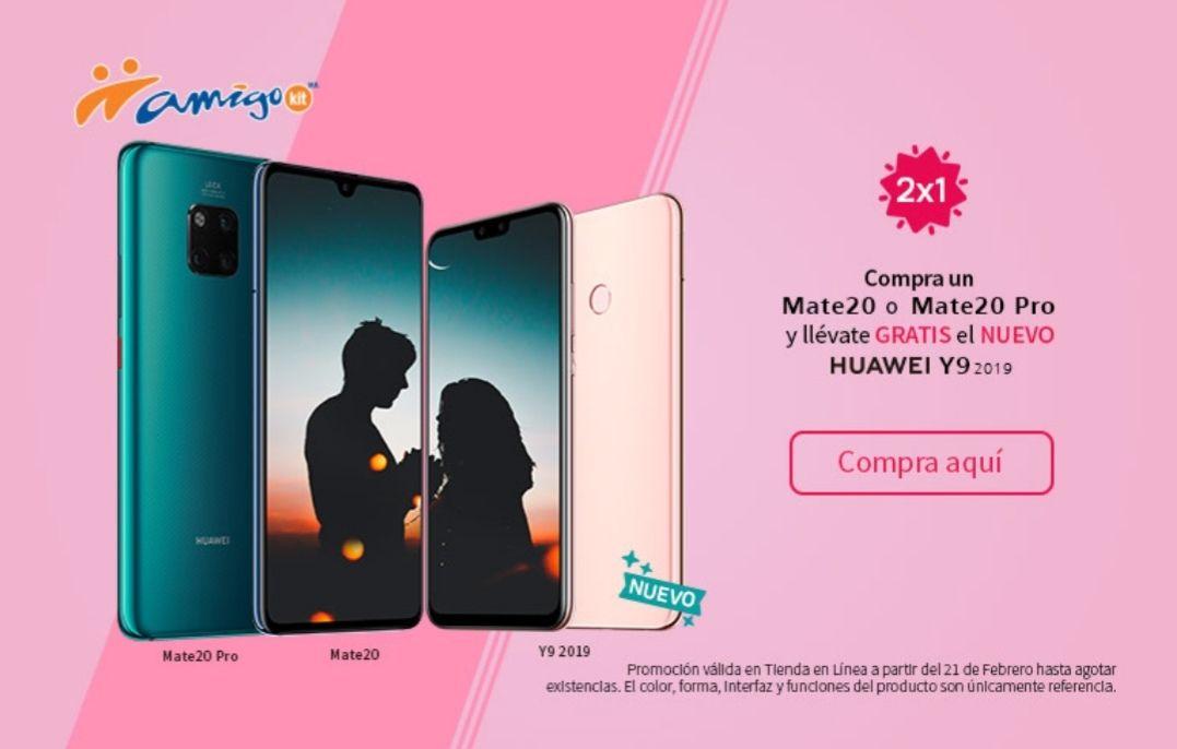 Telcel en línea: compra un Huawei mate 20 y te regalan u Hauwei Y9 2019