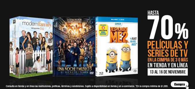 El Buen Fin BLOCKBUSTER: Lista de Varios Blurays 3d br dvd  con 70% descuento