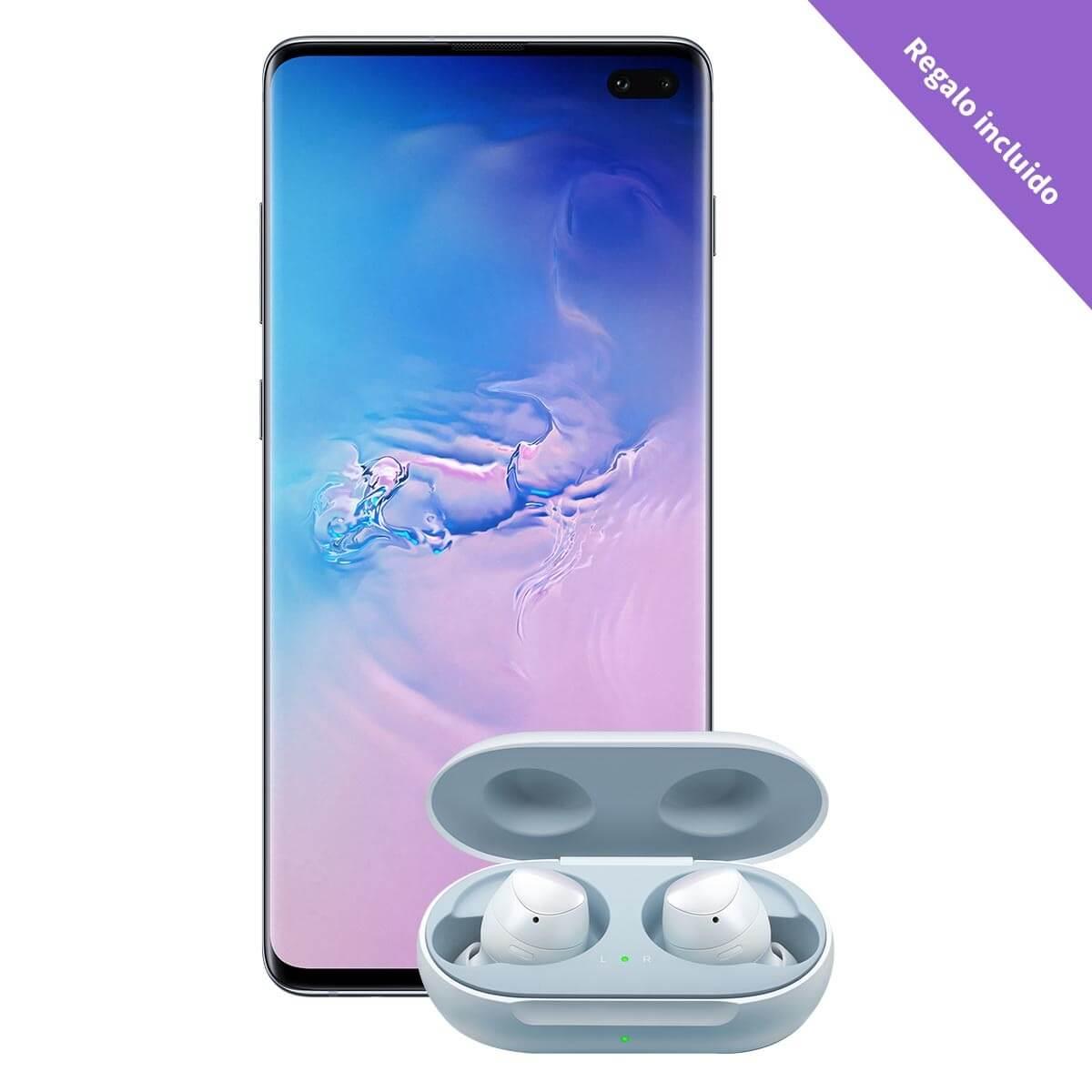 Best Buy Samsung - Galaxy S10 Plus 128 GB - Azul (Telcel) Con Galaxy Buds de Regalo