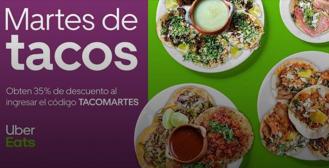 Uber Eats: 35% de descuento en tacos