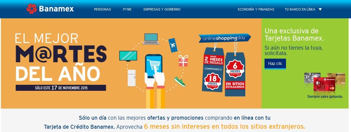 Ofertas del Cyber Martes 2015 con Banamex