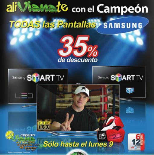 Viana: 35% de descuento en todas las pantallas Samsung