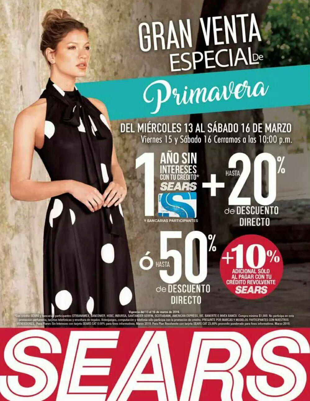 Sears  Gran Venta Especial de Primavera del Miércoles 13 al Sábado 16 de  Marzo 4065f66571a2