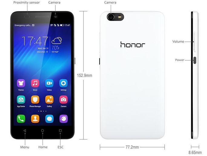 Linio 2 celulares Honor 4x 5.5, octa, 2 gb ram, 8gb, cams 13 megas frontal de 5 megas $5500, Banamex $5000