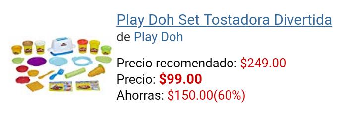 Amazon: Play Doh Set Tostadora Divertida