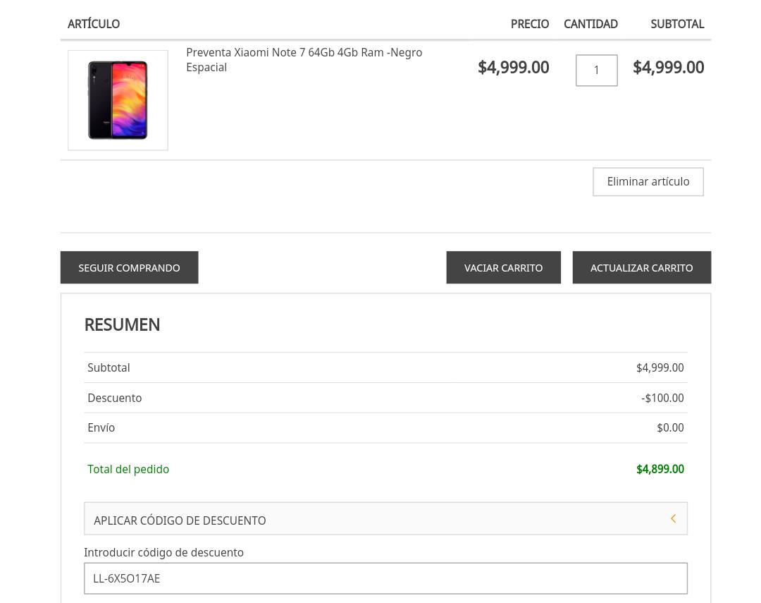 Doto: Preventa Xiaomi Redmi Note 7 64 GB | 4 GB RAM Versión Global