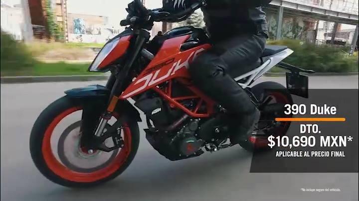 KTM: elige cómo llevarte tu KTM por ejemplo la duke 200 pago de contado 59,310.00