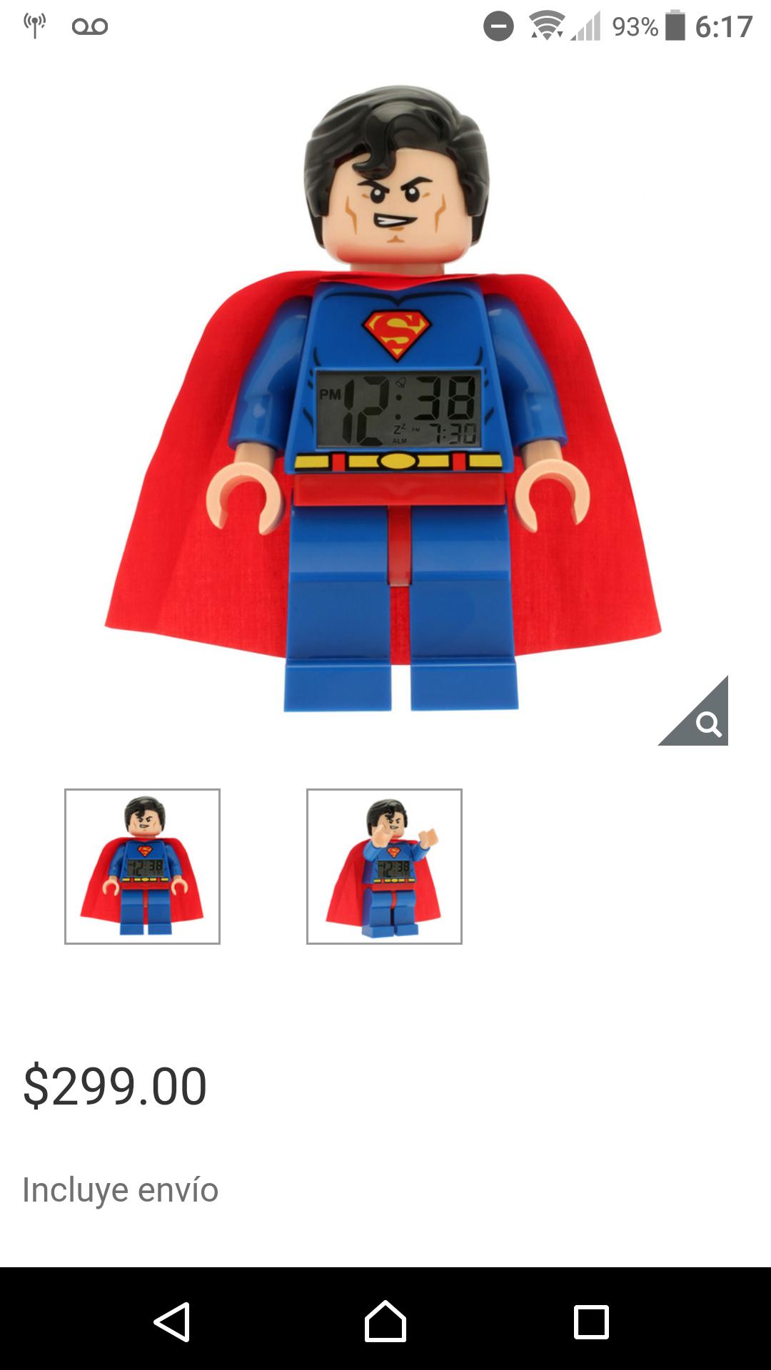 Costco: Reloj despertador Lego Superman y Batman